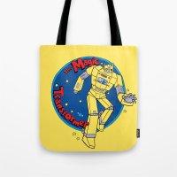 transformer Tote Bags featuring The Magic Transformer by Skylar Hogan
