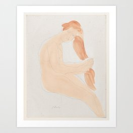 Auguste Rodin Nude Figure Lithograph #2 Art Print
