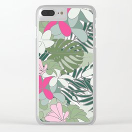 Exotic flowers Clear iPhone Case