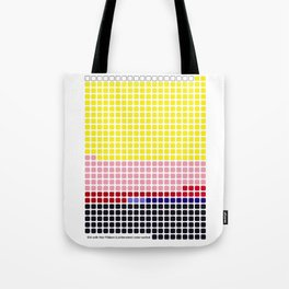 Girl with Hair Ribbon (Roy Lichtenstein) color-sorted Tote Bag