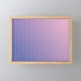 purple / pink - grid Framed Mini Art Print