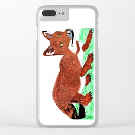 Crouching Dhole Clear iPhone Case