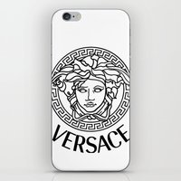 versace iPhone & iPod Skins featuring Versace Noir by Goldflakes