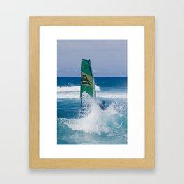 Hookipa Windsurfing North Shore Maui Hawaii Framed Art Print