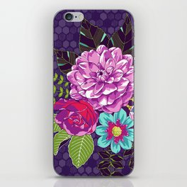 Bloomin' Beauties Violet iPhone Skin