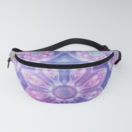 Daydream Mandala in Purple, Blue and Pink Fanny Pack