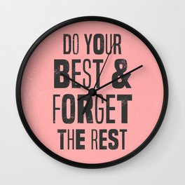 do your best Wall Clock