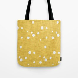 Modern Farm House Polka Dots Mustard Tote Bag