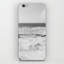 Vintage film style Black and white coast. iPhone Skin