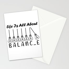 Life is all about balance Stationery Cards