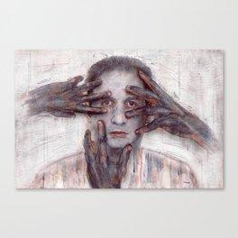 dont touch me Canvas Print