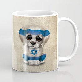Cute Puppy Dog with flag of Israel Coffee Mug