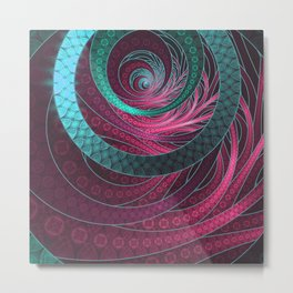 Abstract Bangles of Very Berry Bubblegum Bands Metal Print