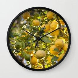 The Lemon Tree Wall Clock
