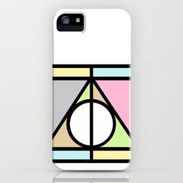 Geometric Deathly Hallow iPhone Case