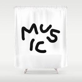 Moi Music Shower Curtain