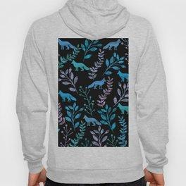 Watercolor Floral & Fox IV Hoody