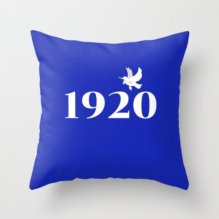 1920 Blue Dove Throw Pillow