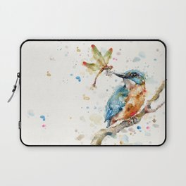 Interesting Relationships (Kingfisher & Dragonfly) Laptop Sleeve