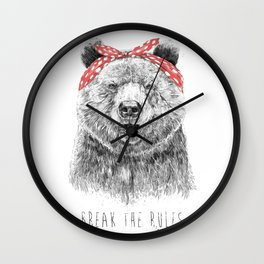 Break the rules Wall Clock