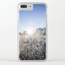 Frosty morning in England Clear iPhone Case