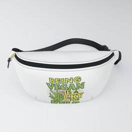 Veganism Humor Being Vegan is a Cry for Kelp Fanny Pack