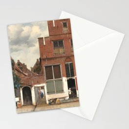 Johannes Vermeer The Little Street Stationery Cards