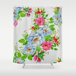 Vintage Floral Pattern No. 7 Shower Curtain