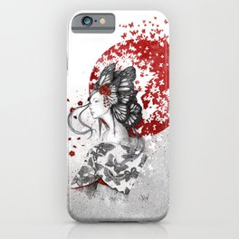 Madame Butterfly iPhone Case