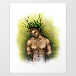 Boy of tree Art Print