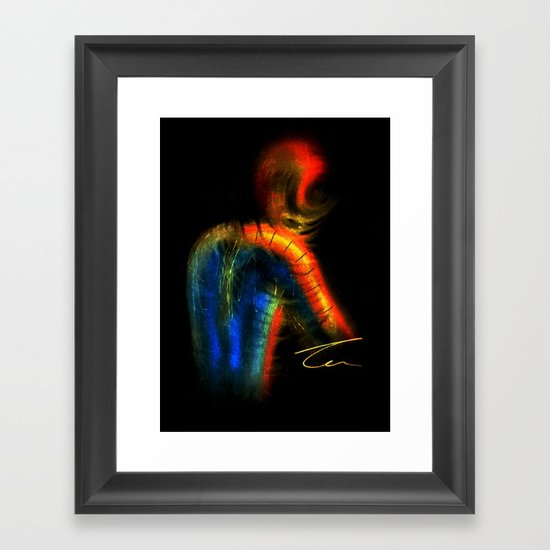 Twisted Spiderman Framed Art Print