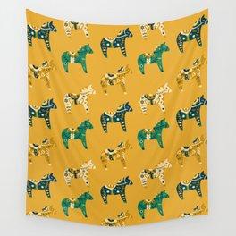 Dala Horse Pattern Wall Tapestry