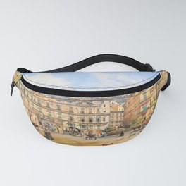 12,000pixel-500dpi - Franz Alt - View of the Piazza Vittoria, Naples - Digital Remastered Edition Fanny Pack