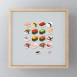 Pixel Sushi Framed Mini Art Print