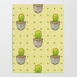 Small green cactus Poster