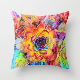 Succulent Madness Throw Pillow