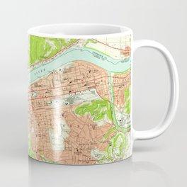 Vintage Map of Huntington West Virginia (1957) Coffee Mug