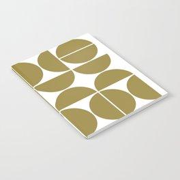 Mid Century Modern Geometric 04 Flat Gold Notebook