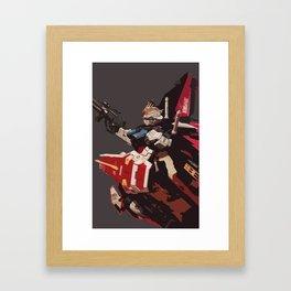 Gundam Aile Strike Digital Painting Framed Art Print