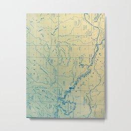 Mogollom Rim Blue Metal Print