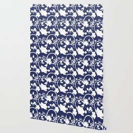 Blue And White Pattern No. 1 Wallpaper
