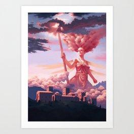 Nephelee, Nymph of Nebula Art Print