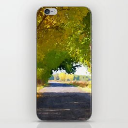 Autumn Country Lane iPhone Skin