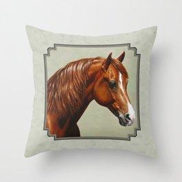 Chestnut Morgan Horse Throw Pillow