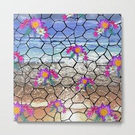 Beach Mosaic Metal Print