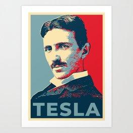 Tesla poster Art Print