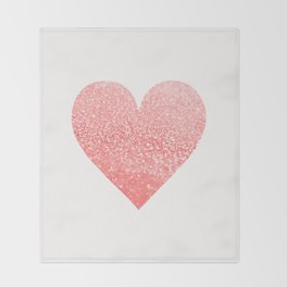 CORAL HEART Throw Blanket