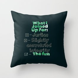 For the Fun Throw Pillow
