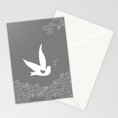 Love and Freedom - Silver/Gray Stationery Cards