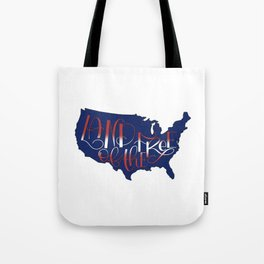 Land of the Free, USA, 4th of July BLUE Tote Bag